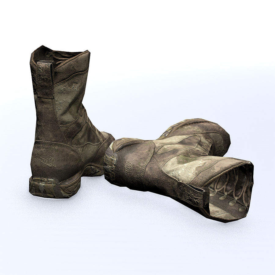 Soldier Combat Boots - Danner TFX® GTX® Uniform Boots in A-TACS Camo royalty-free 3d model - Preview no. 3