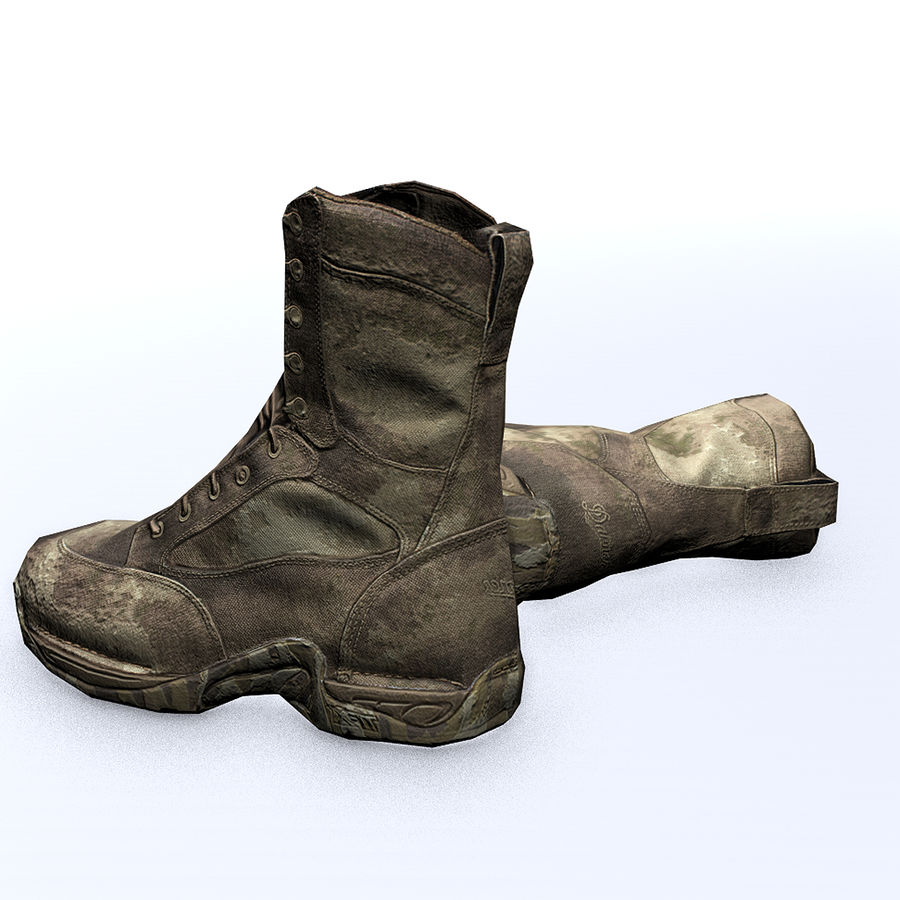 Soldier Combat Boots - Danner TFX® GTX® Uniform Boots in A-TACS Camo royalty-free 3d model - Preview no. 4