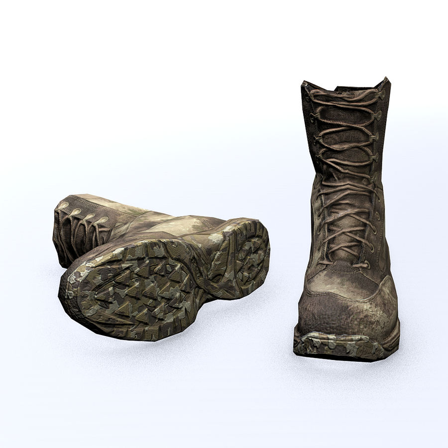 Soldier Combat Boots - Danner TFX® GTX® Uniform Boots in A-TACS Camo royalty-free 3d model - Preview no. 2