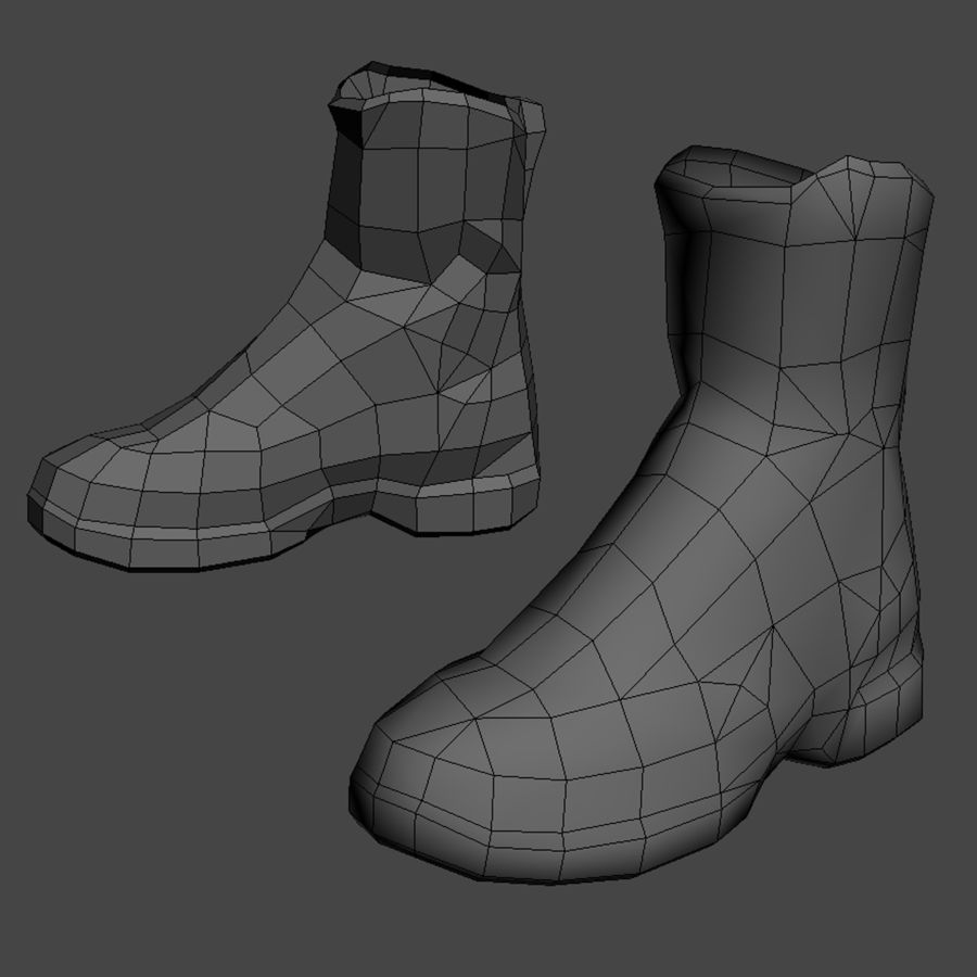 Soldier Combat Boots - Danner TFX® GTX® Uniform Boots in A-TACS Camo royalty-free 3d model - Preview no. 1
