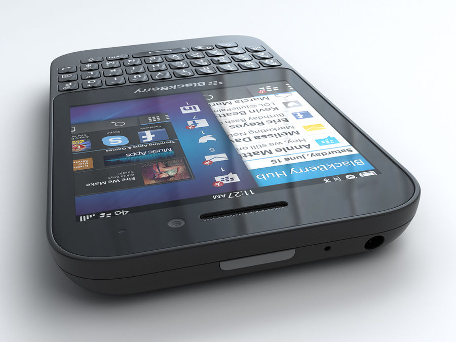 BlackBerry Q5 royalty-free 3d model - Preview no. 6