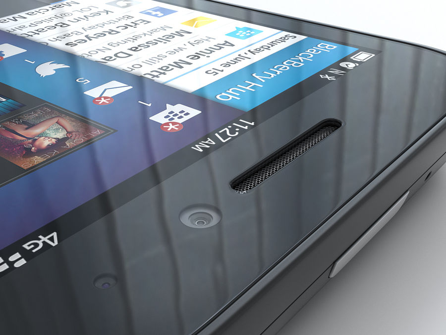 BlackBerry Q5 royalty-free 3d model - Preview no. 14