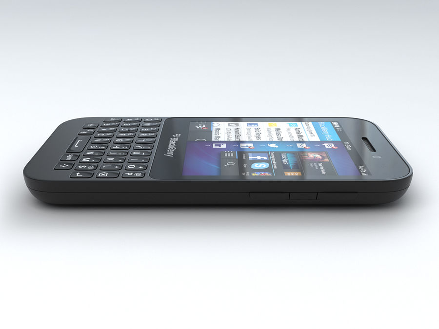 BlackBerry Q5 royalty-free 3d model - Preview no. 9
