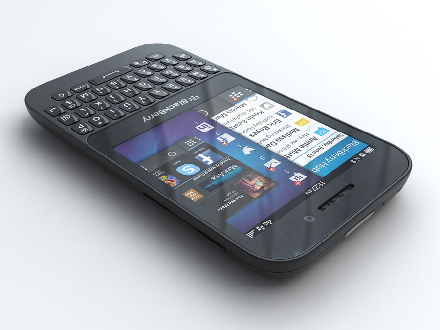 BlackBerry Q5 royalty-free 3d model - Preview no. 2