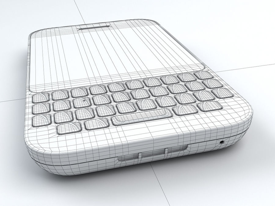 BlackBerry Q5 royalty-free 3d model - Preview no. 25