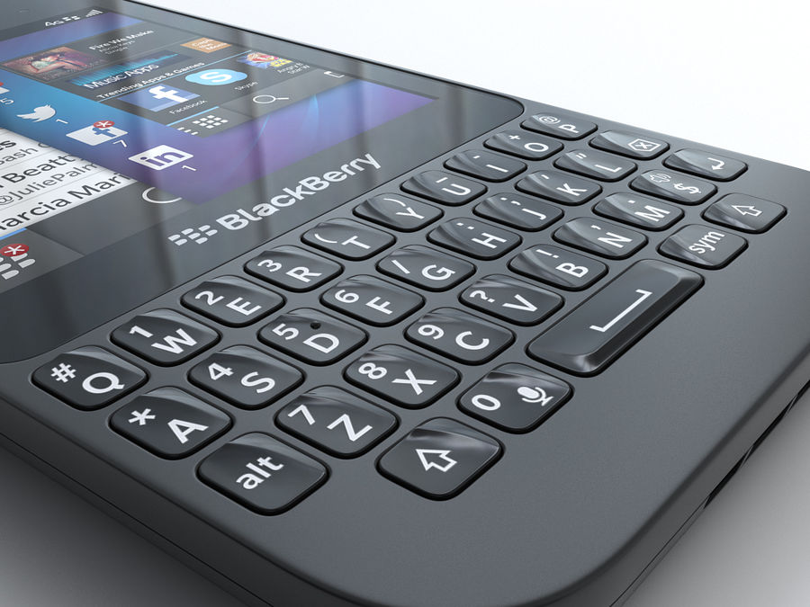 BlackBerry Q5 royalty-free 3d model - Preview no. 13