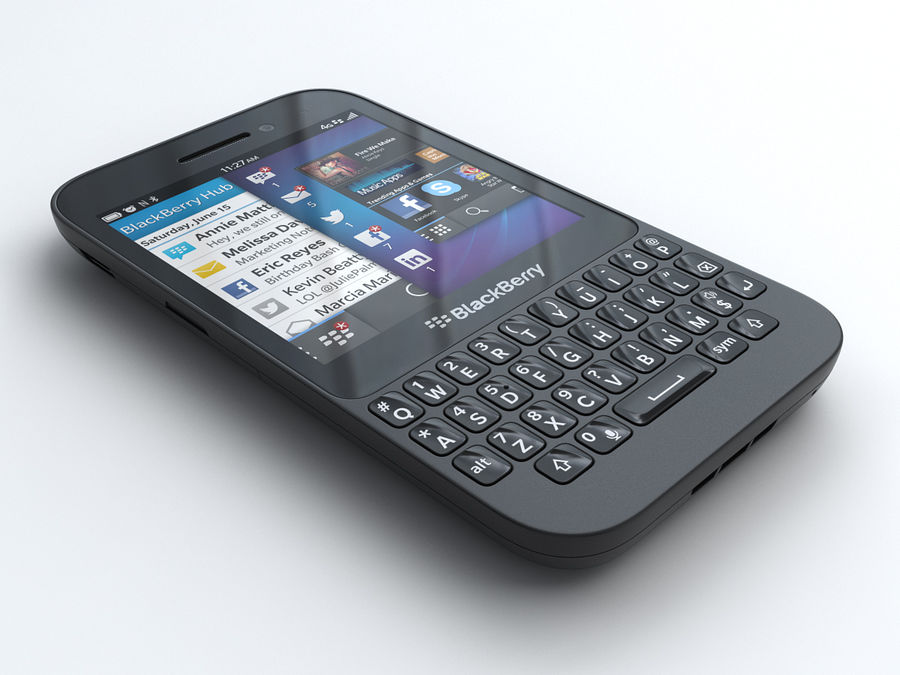 BlackBerry Q5 royalty-free 3d model - Preview no. 1