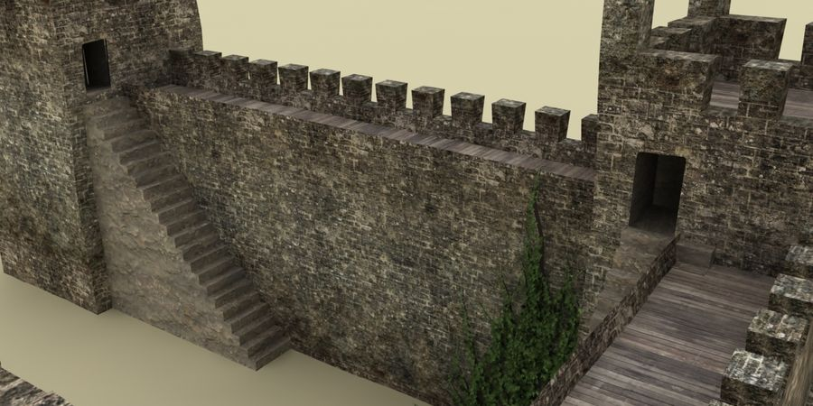 Schlossturm royalty-free 3d model - Preview no. 4