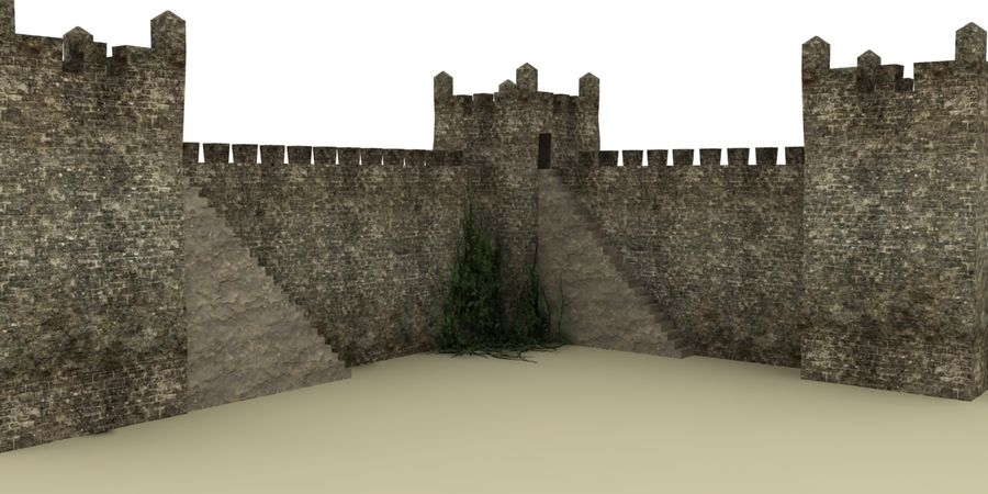 Schlossturm royalty-free 3d model - Preview no. 1