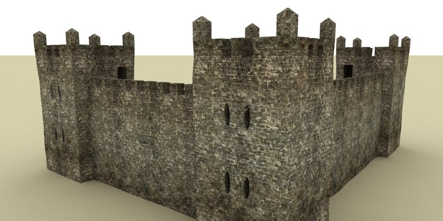 Schlossturm royalty-free 3d model - Preview no. 2