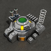 Budynek science fiction Reaktora 3d model