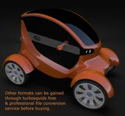 Compact electric concept car 4 3d model