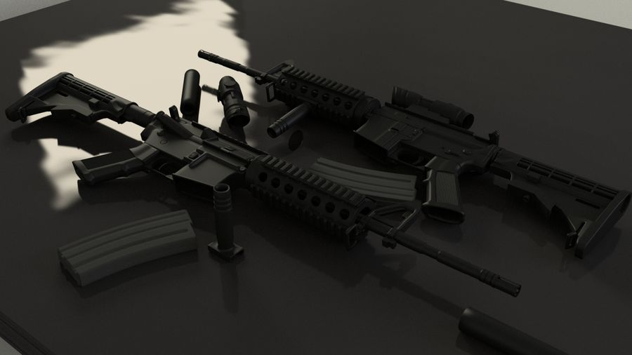 M4A1 royalty-free 3d model - Preview no. 9