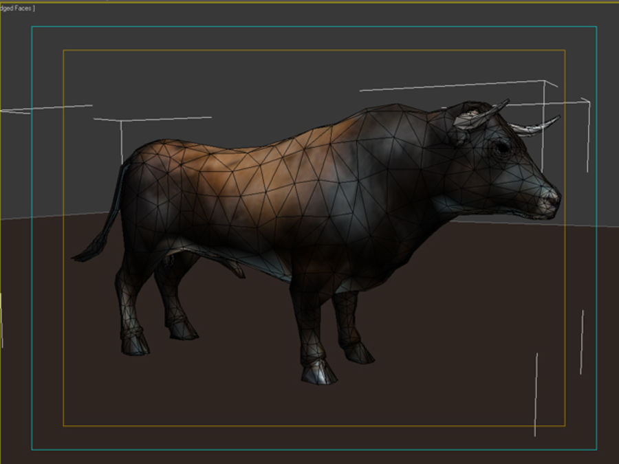 Bull royalty-free 3d model - Preview no. 6