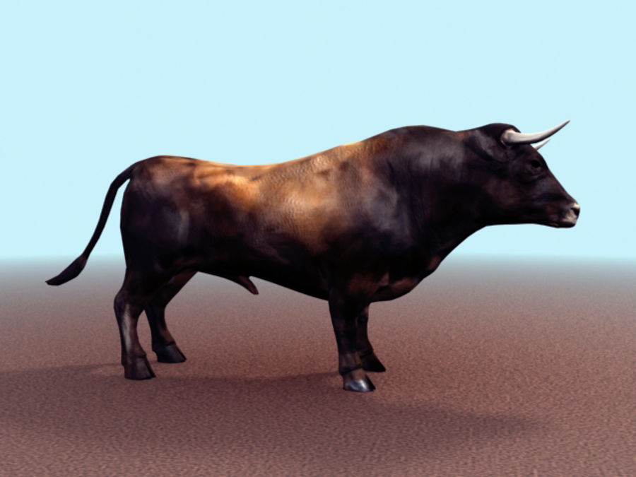 Bull royalty-free 3d model - Preview no. 3