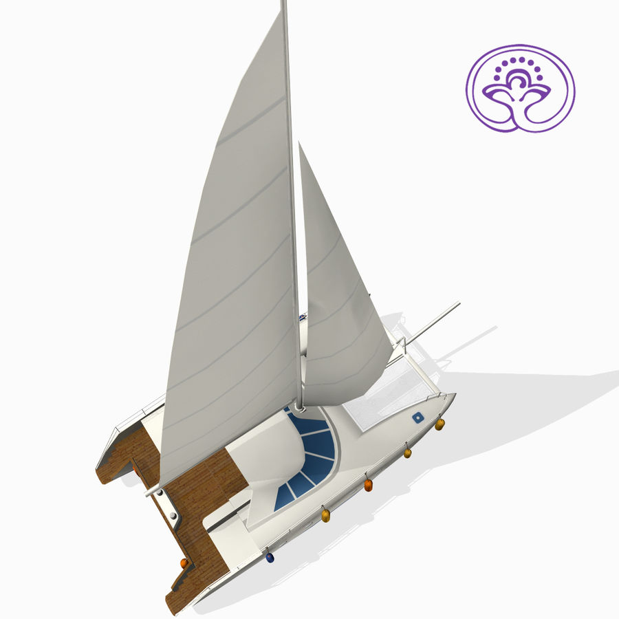 Катамаран А royalty-free 3d model - Preview no. 1