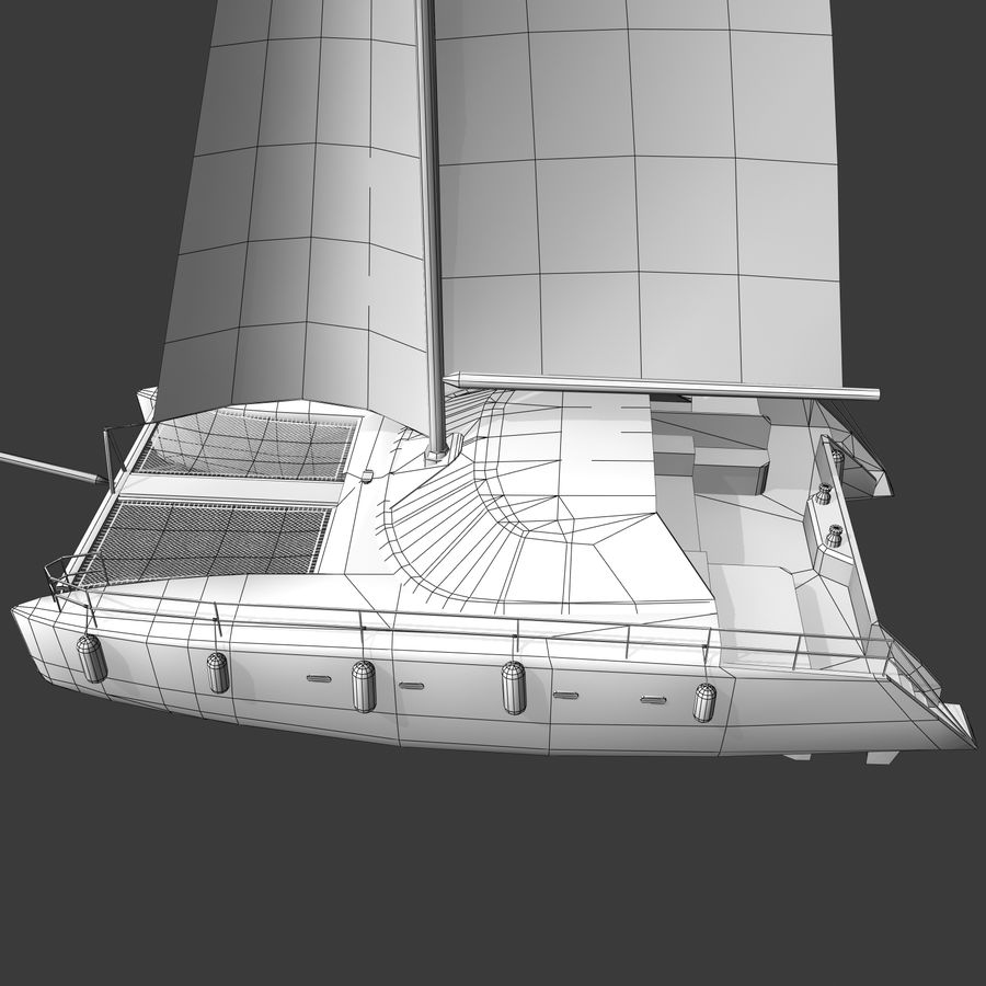Катамаран А royalty-free 3d model - Preview no. 13