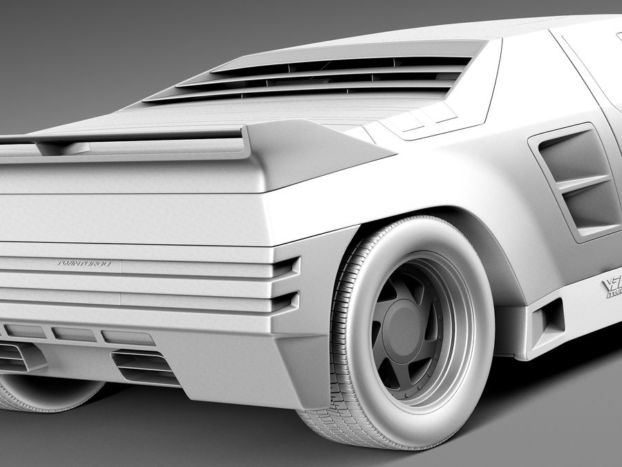 Vector W8 1990–1992 royalty-free 3d model - Preview no. 11