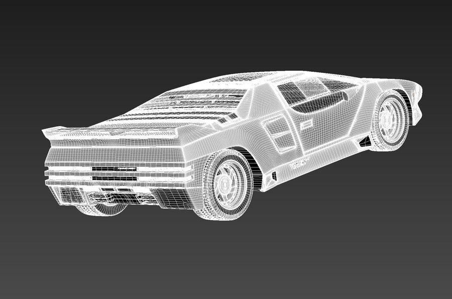 Vector W8 1990–1992 royalty-free 3d model - Preview no. 15