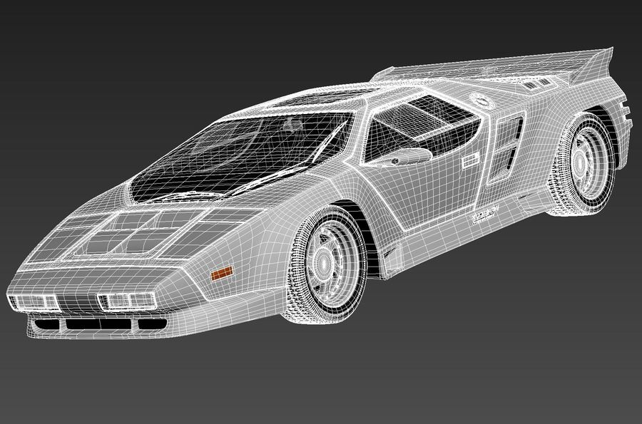 Vector W8 1990–1992 royalty-free 3d model - Preview no. 13