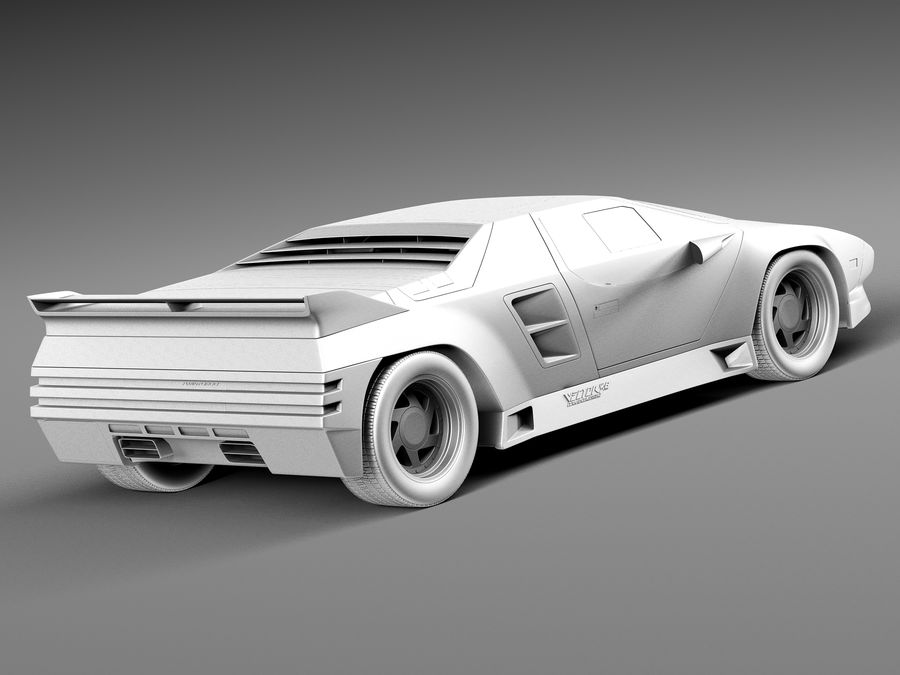Vector W8 1990–1992 royalty-free 3d model - Preview no. 12