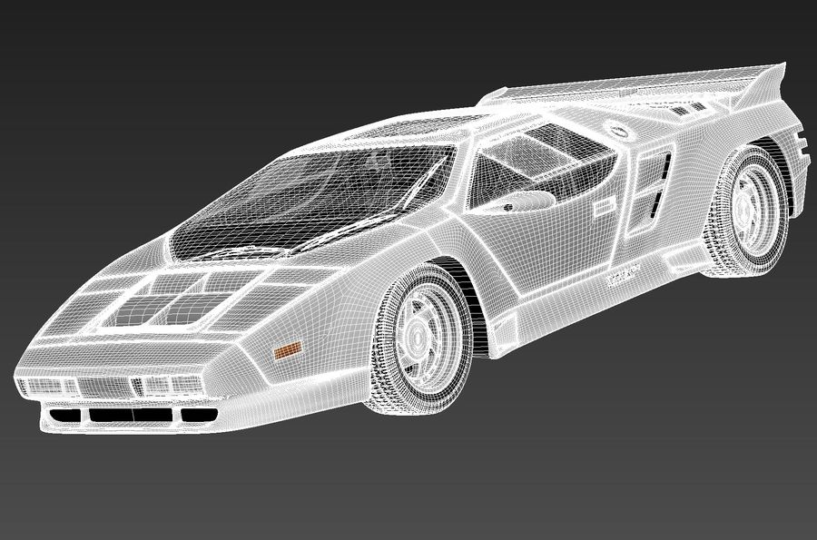 Vector W8 1990–1992 royalty-free 3d model - Preview no. 14