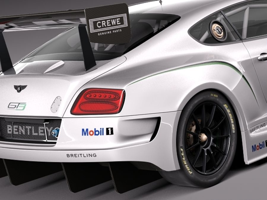 Bentley Continental GT3 2014 Race Car 3D Model $149 - .obj .max .lwo ...