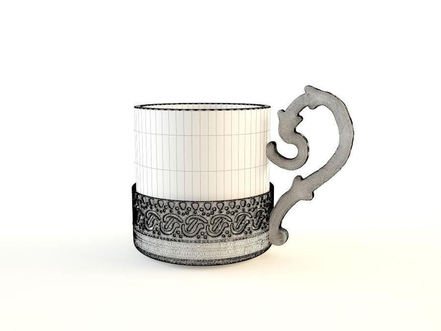 Set da caffè Golden Tea royalty-free 3d model - Preview no. 6