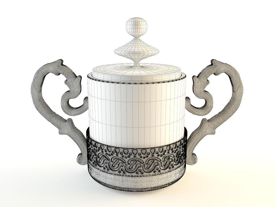 Set da caffè Golden Tea royalty-free 3d model - Preview no. 4