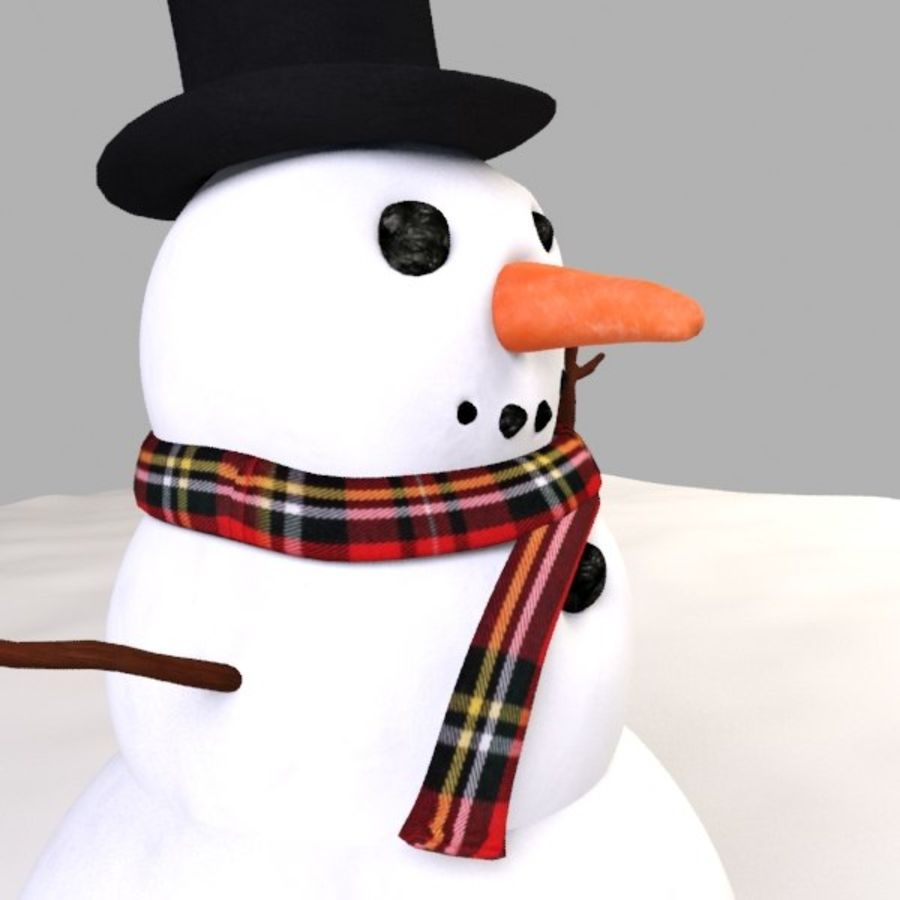 Snowman royalty-free 3d model - Preview no. 6