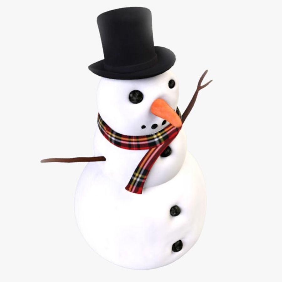 Snowman royalty-free 3d model - Preview no. 2