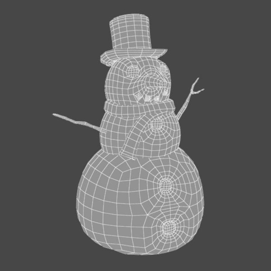 Snowman royalty-free 3d model - Preview no. 11
