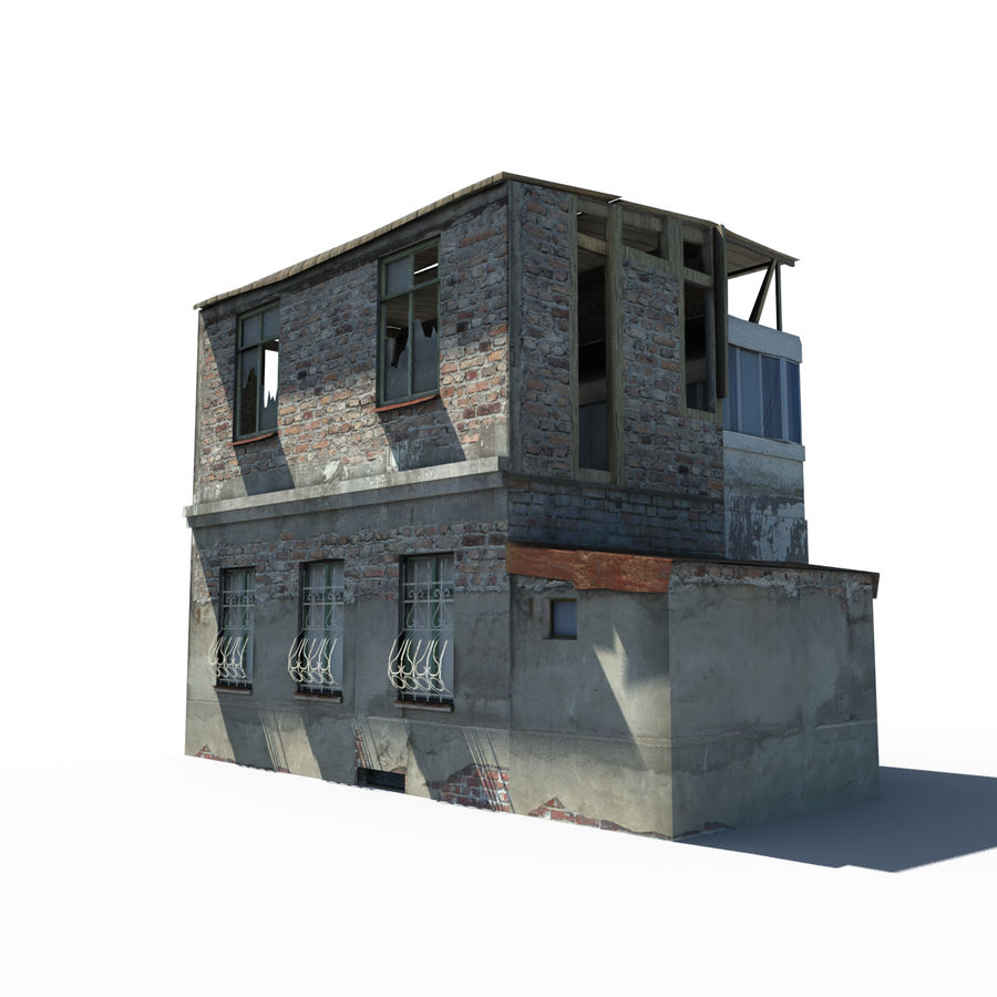Ruined house royalty-free 3d model - Preview no. 2
