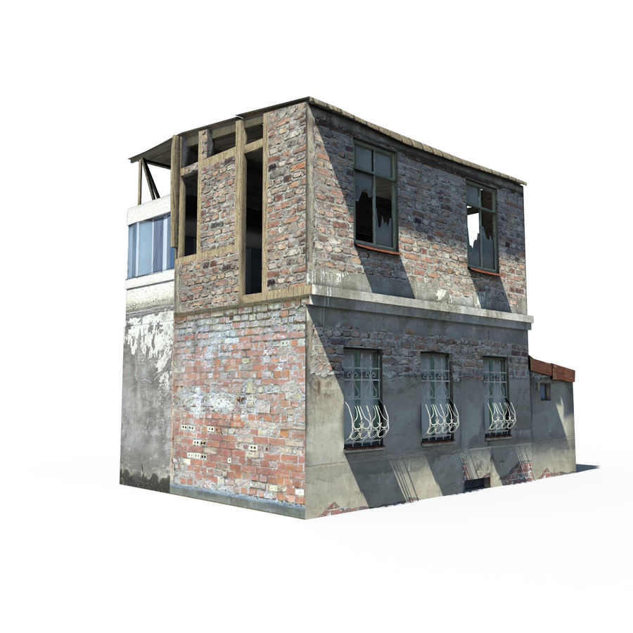 Ruined house royalty-free 3d model - Preview no. 1
