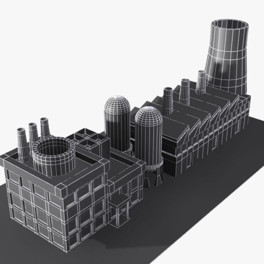 Fábrica de desenho animado royalty-free 3d model - Preview no. 9