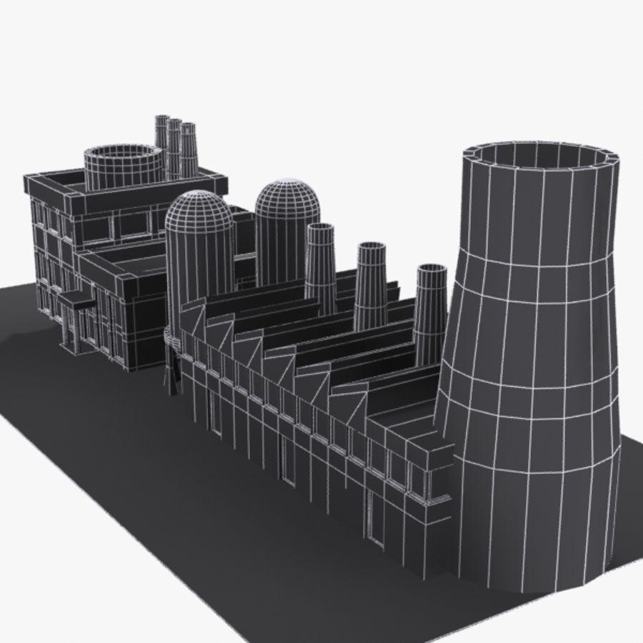 Fábrica de desenho animado royalty-free 3d model - Preview no. 8