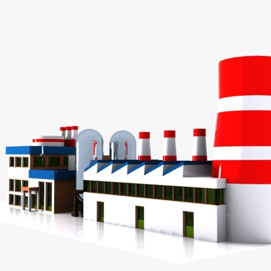 Fábrica de desenho animado royalty-free 3d model - Preview no. 4