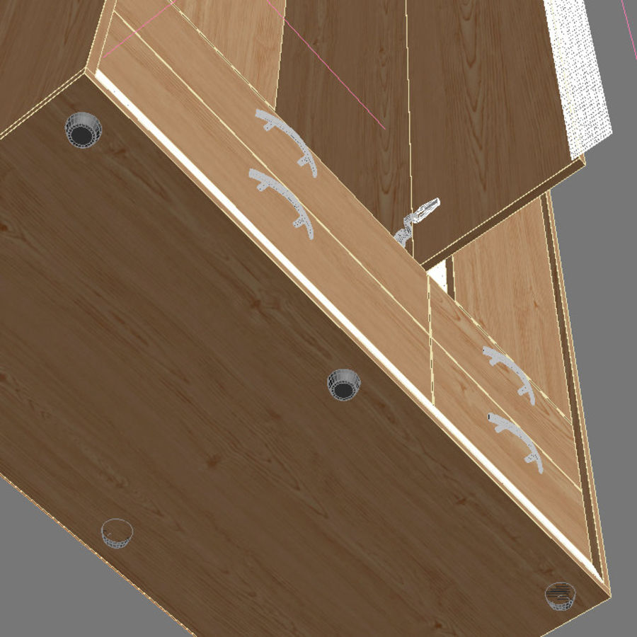 Wardrobe and Chest of Drawers Set royalty-free 3d model - Preview no. 14