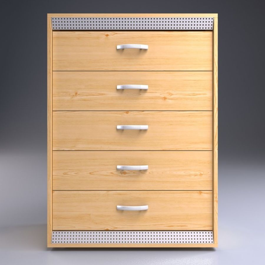 Wardrobe and Chest of Drawers Set royalty-free 3d model - Preview no. 7