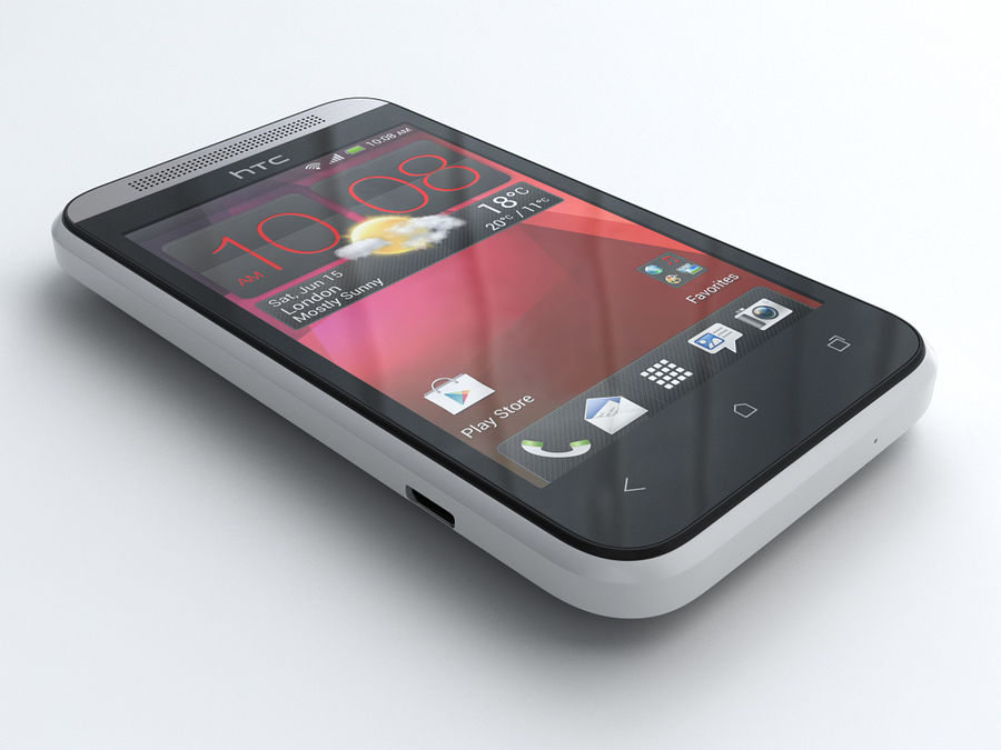HTC Desire 200 royalty-free 3d model - Preview no. 1