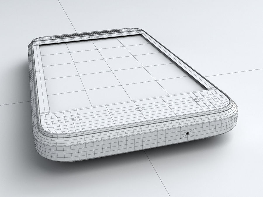 HTC Desire 200 royalty-free 3d model - Preview no. 24