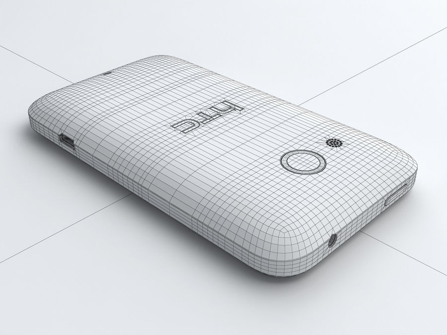 HTC Desire 200 royalty-free 3d model - Preview no. 23