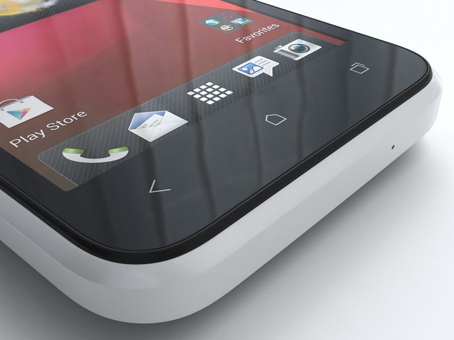HTC Desire 200 royalty-free 3d model - Preview no. 13