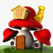Mushroom House 4 3d model