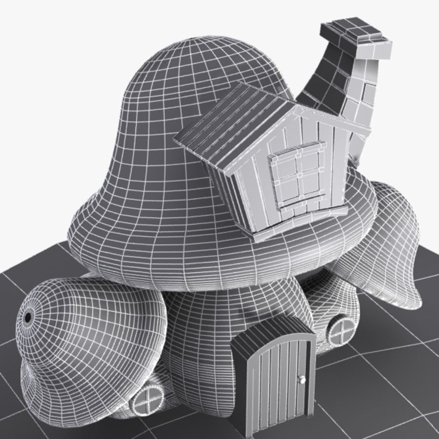 Mushroom House 4 royalty-free 3d model - Preview no. 10