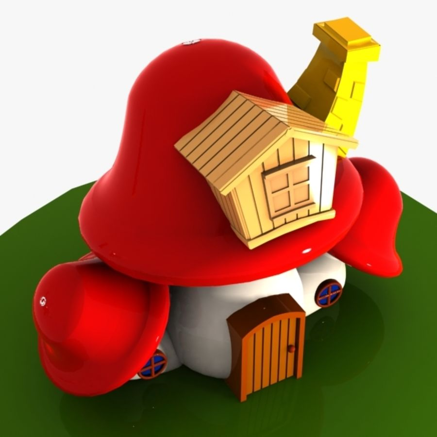 Mushroom House 4 royalty-free 3d model - Preview no. 5