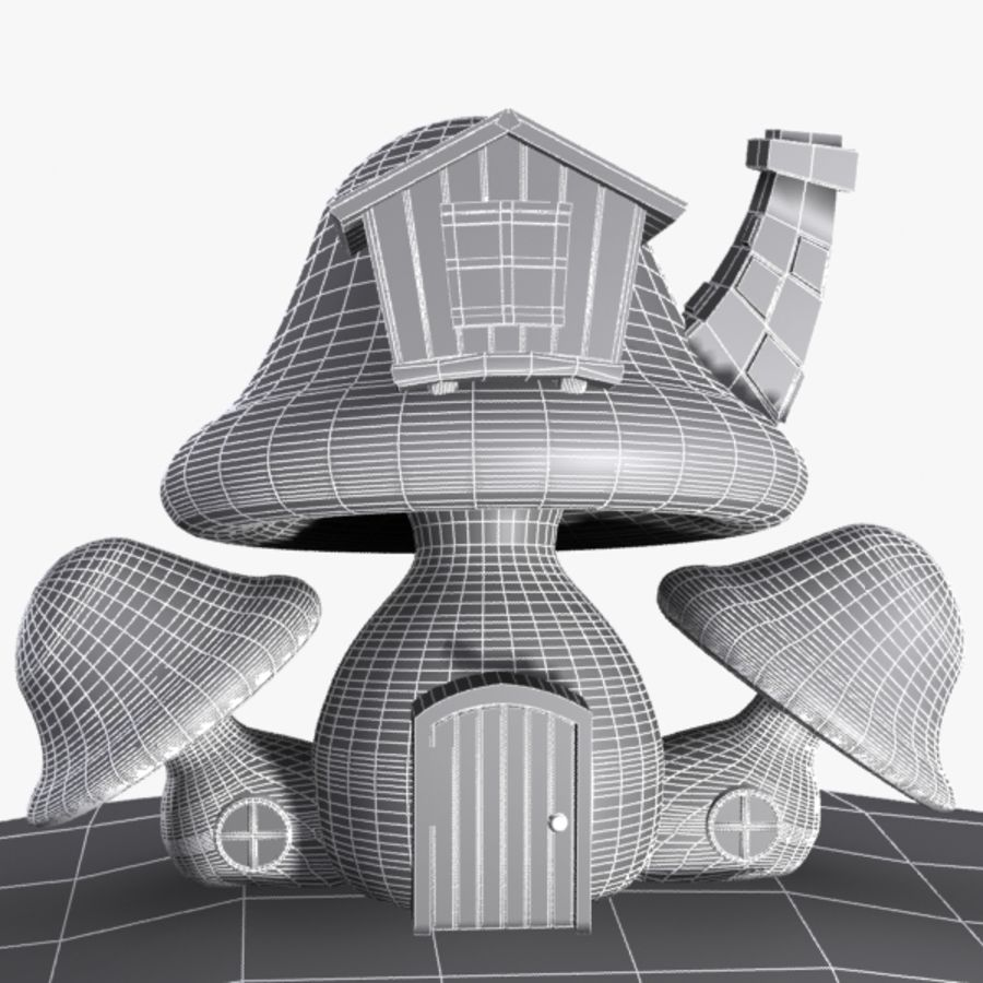 Mushroom House 4 royalty-free 3d model - Preview no. 8