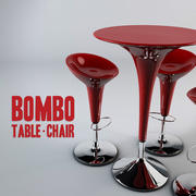 Bombo - Table & Chair 3d model