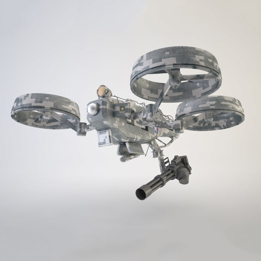 Quadrocopter Drone royalty-free 3d model - Preview no. 2