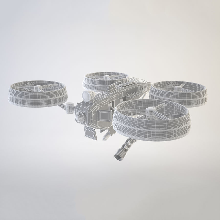 Quadrocopter Drone royalty-free 3d model - Preview no. 3
